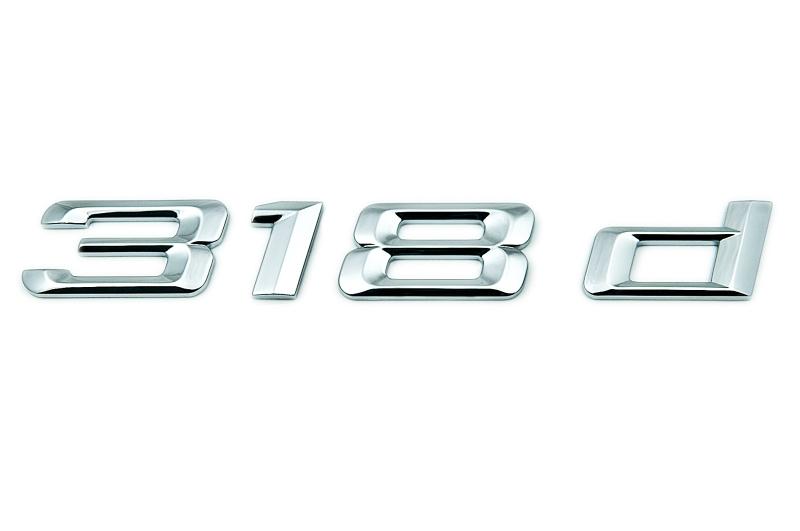 bmw genuine 318d self adhesive sticker badge emblem e90. Black Bedroom Furniture Sets. Home Design Ideas
