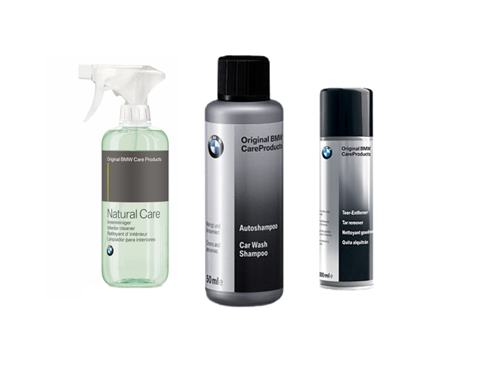 bmw interior cleaner tar remover car shampoo set ebay. Black Bedroom Furniture Sets. Home Design Ideas