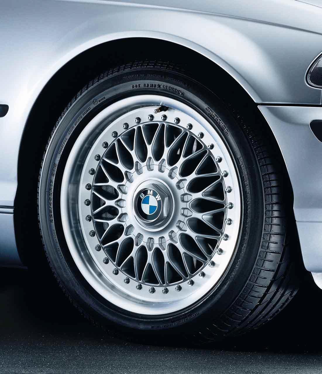 "1x BMW Genuine Alloy Wheel 17"" Cross-Spoke 5 Rim E39 5"