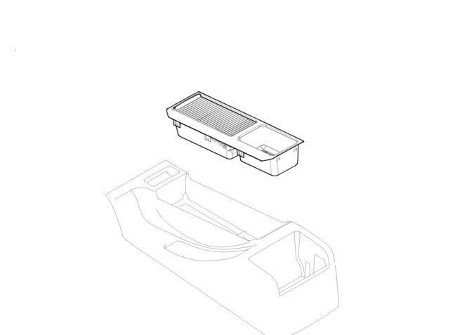 bmw centre console tray storage insert cover grey e46 3 series 51167038324 ebay. Black Bedroom Furniture Sets. Home Design Ideas