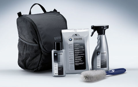 bmw genuine car care interior cleaner wheel rim spray brush kit 83120443884 ebay. Black Bedroom Furniture Sets. Home Design Ideas