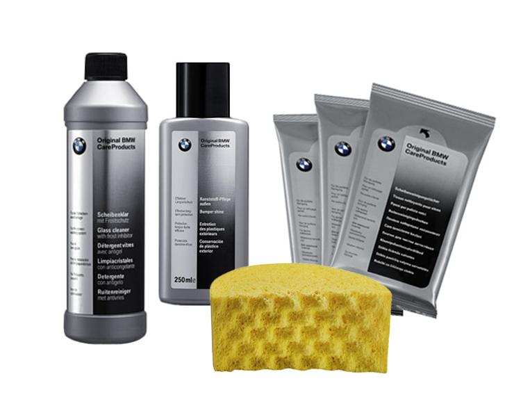 bmw windscreen washer interior cleaning cloths bumper shine sponge set kit ebay. Black Bedroom Furniture Sets. Home Design Ideas