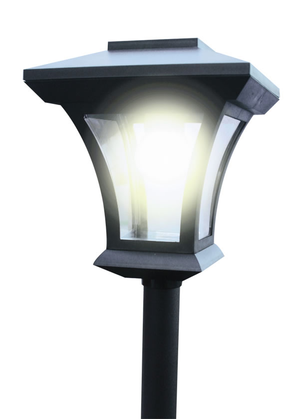 66m solar power garden patio lamp post light led energy saving lights. Black Bedroom Furniture Sets. Home Design Ideas