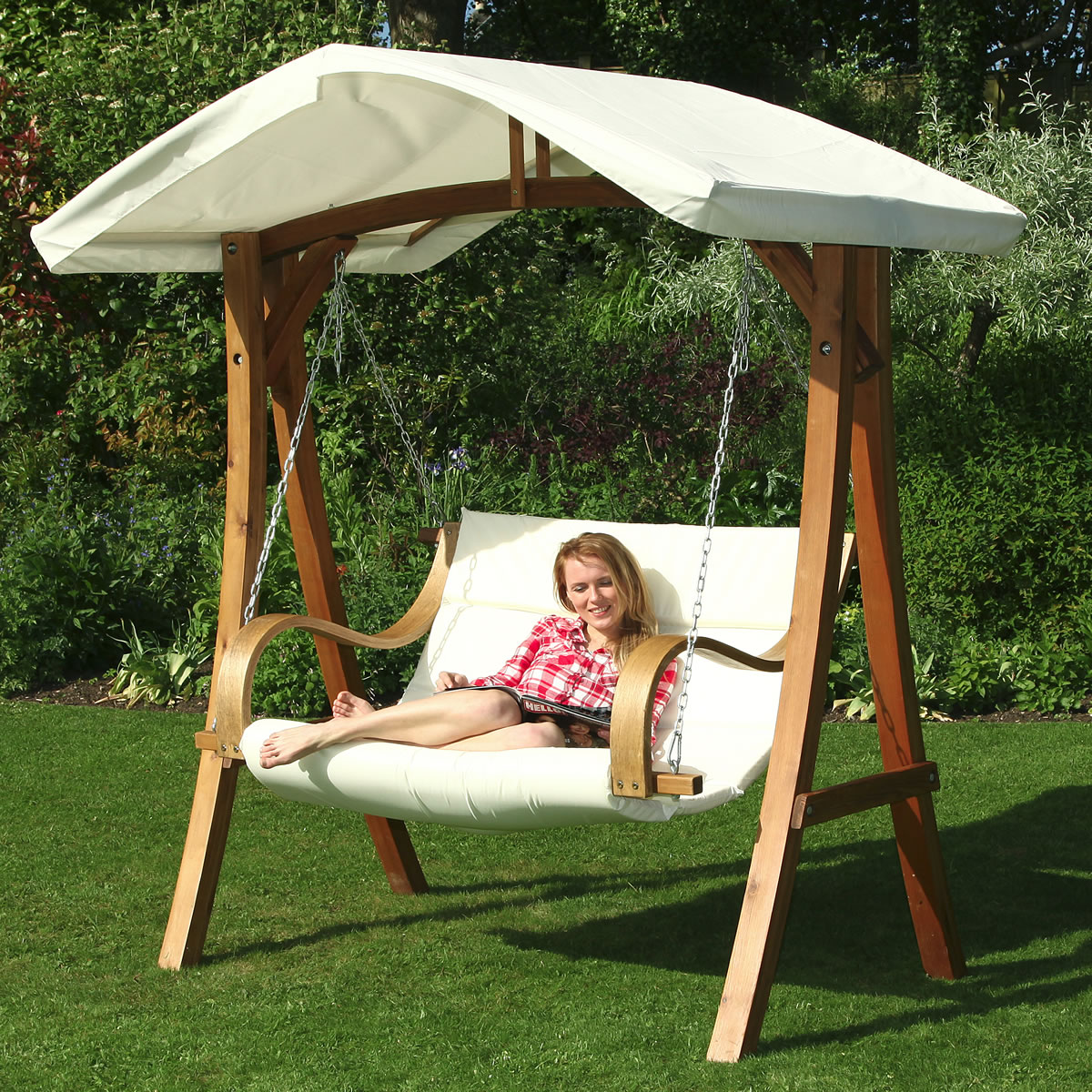 seater garden swing chair with canopy hl 6302 3 pictures