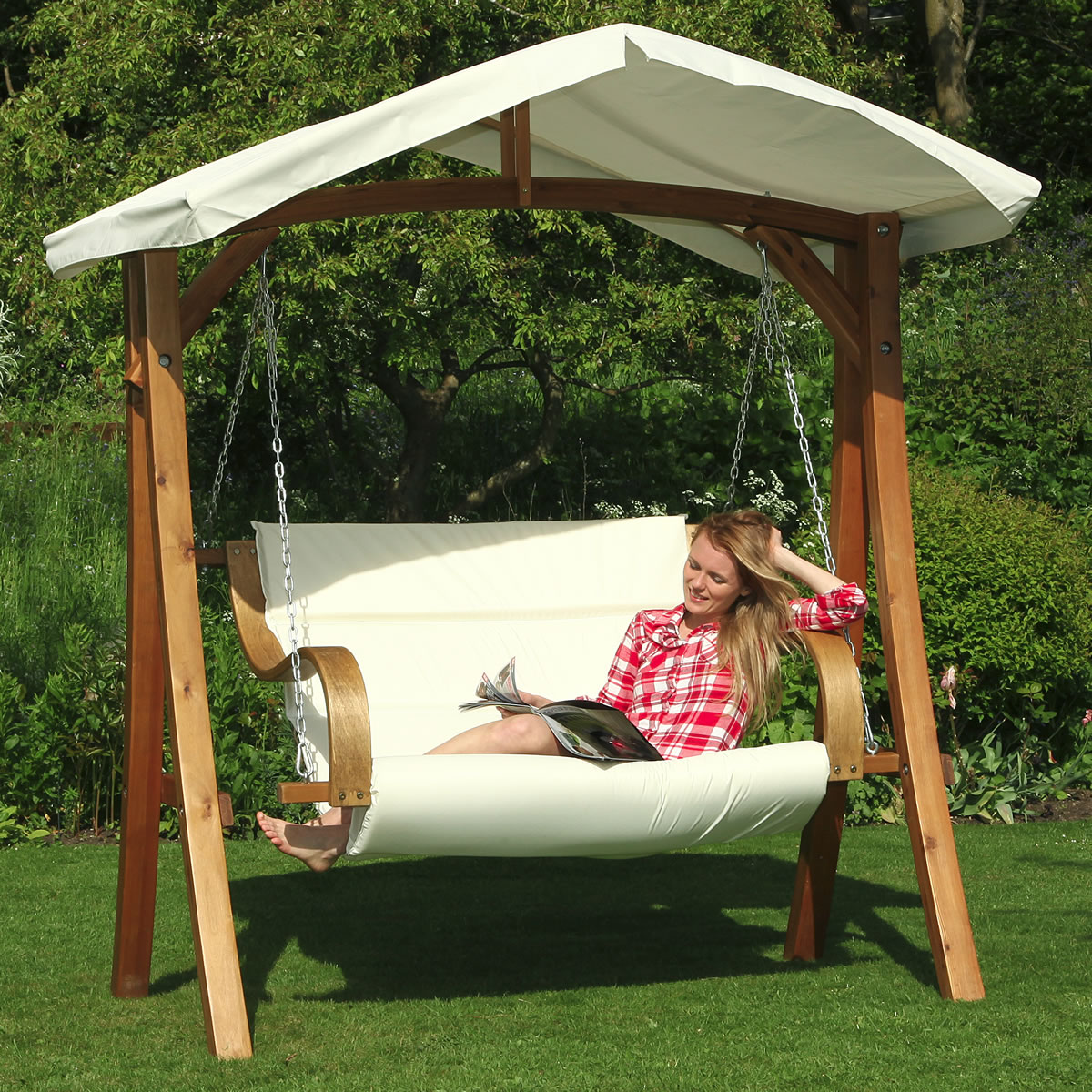 2 Seater Garden Swing Chairs Modern Patio Outdoor