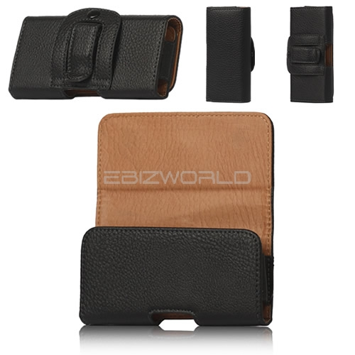 black leather belt clip holster pouch iphone 5c 5s 5 touch