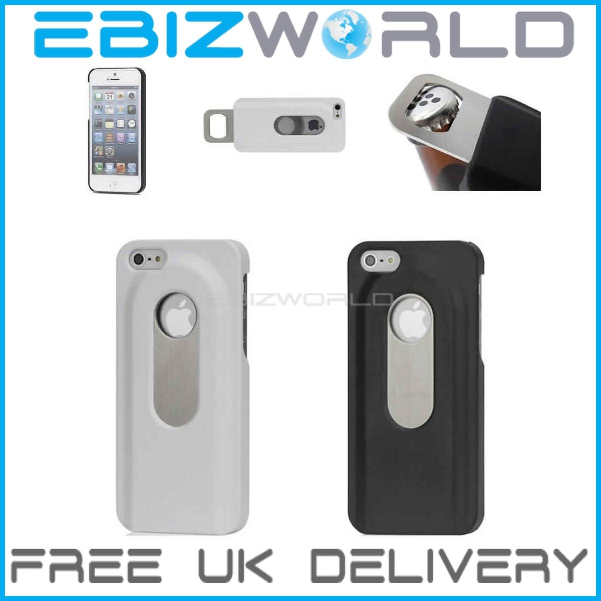 stainless steel bottle opener hard case for iphone 5 5g cover shell slide apple ebay. Black Bedroom Furniture Sets. Home Design Ideas
