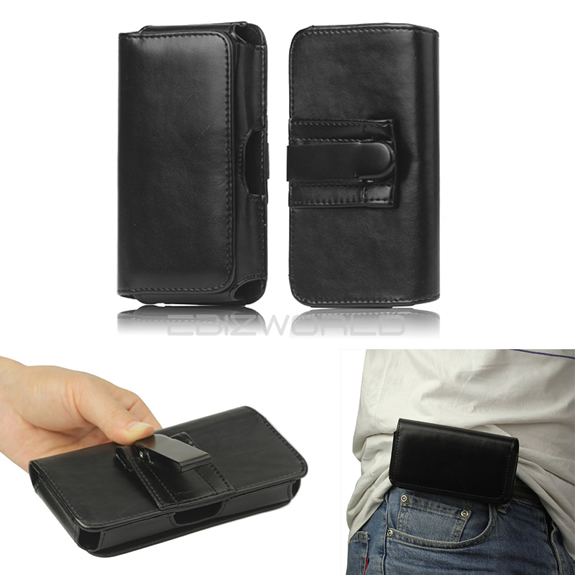 leather case with belt clip: