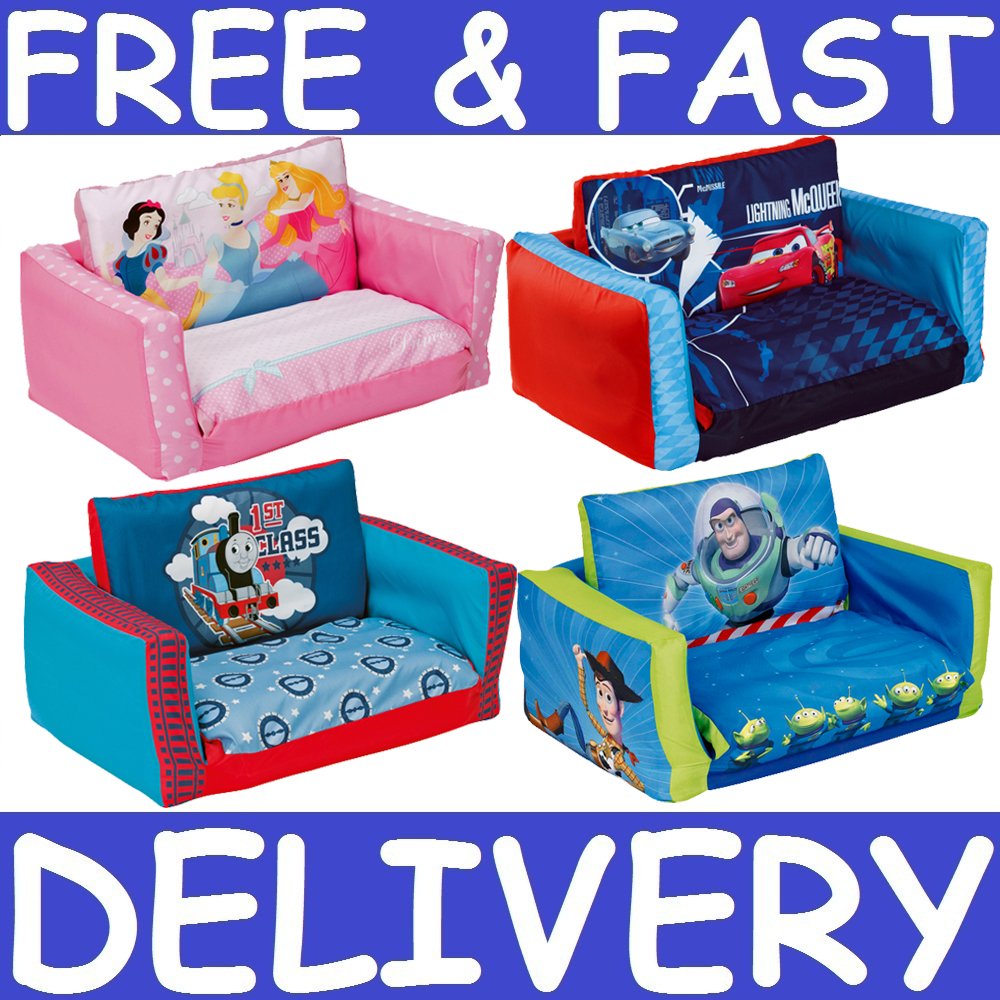 Character Inflatable Flip Out Sofa Bed Kids Bedroom