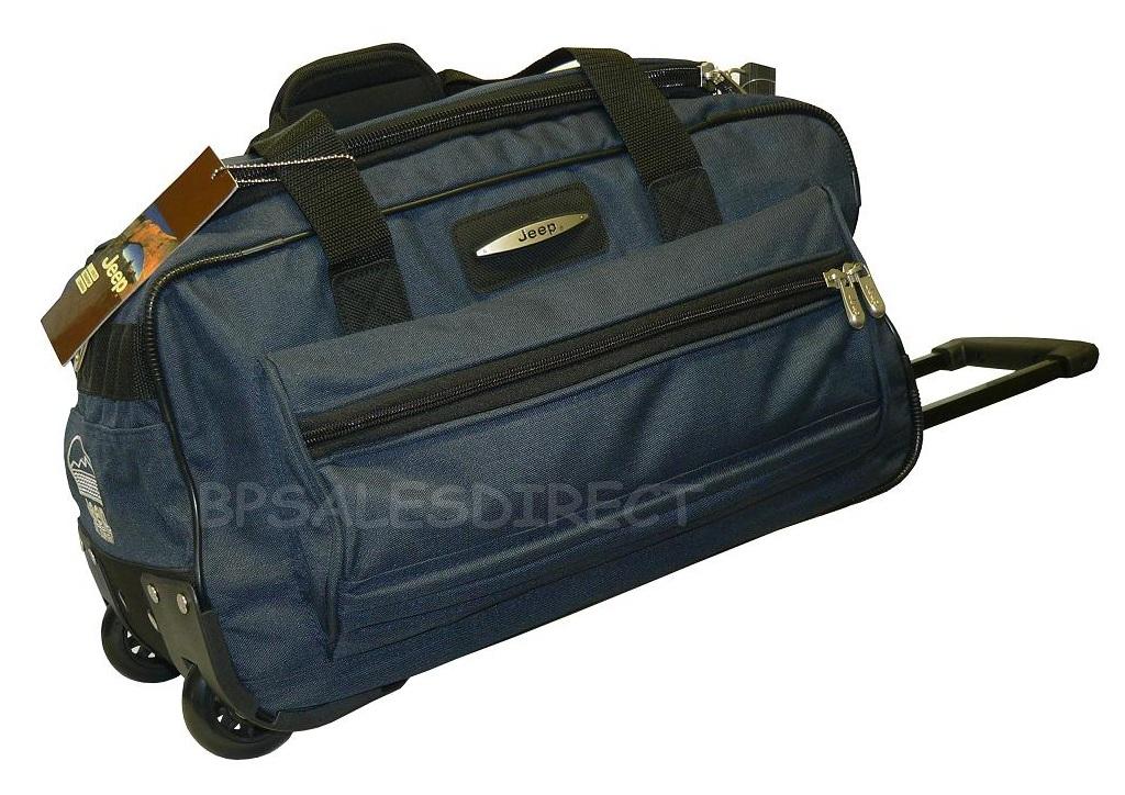 18 inch jeep wheeled holdall duffle travel cabin bag ebay
