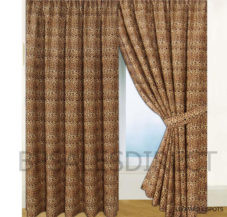 details about leopard skin animal print duvet pillowcase curtains