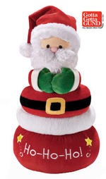 View Item Christmas Holiday Stacker - Santa - by GUND