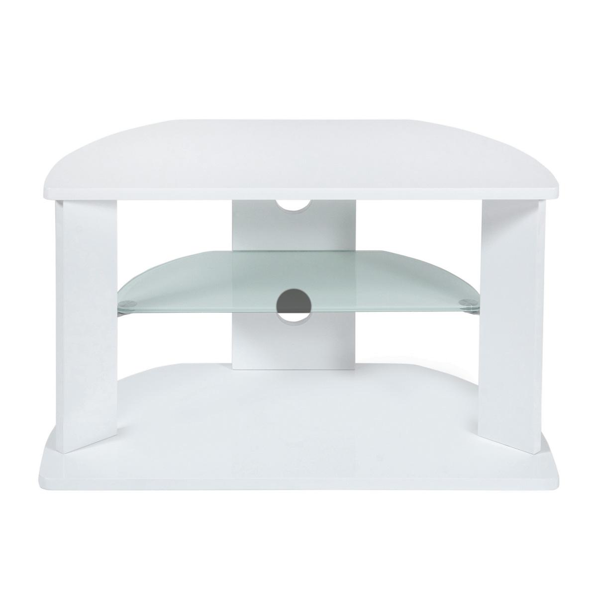 white tv corner stand shelves. Black Bedroom Furniture Sets. Home Design Ideas