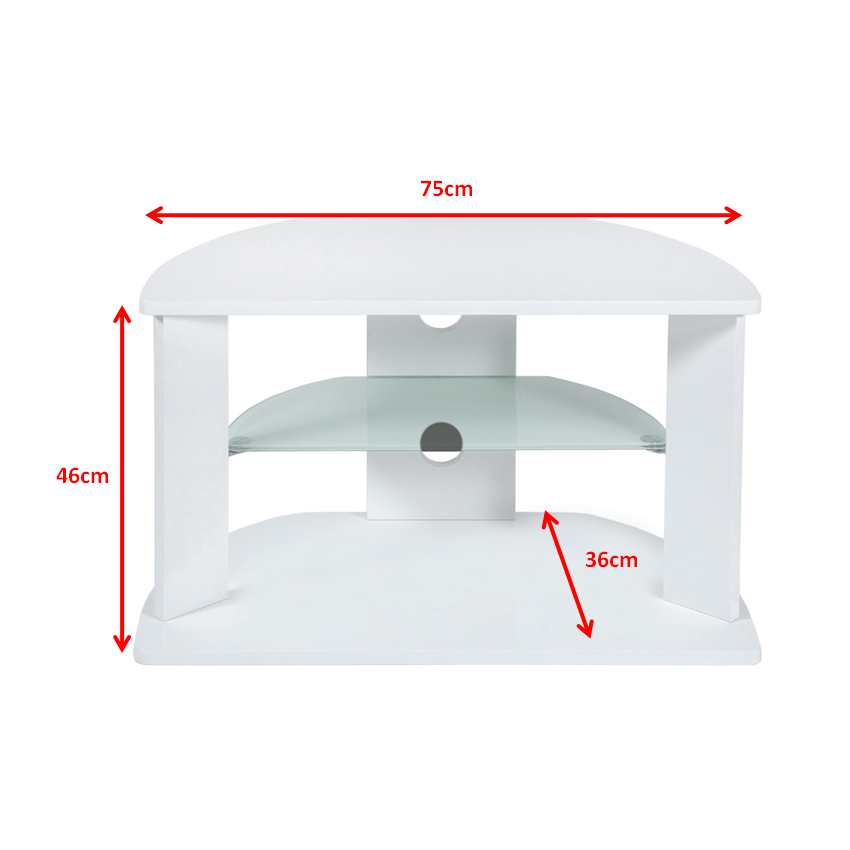 New small white two shelf corner lcd plasma tv stand holds for White plasma tv stands