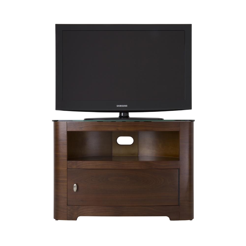 walnut veneer oval lcd plasma tv cabinet stand 32 42 inch television screens ebay. Black Bedroom Furniture Sets. Home Design Ideas