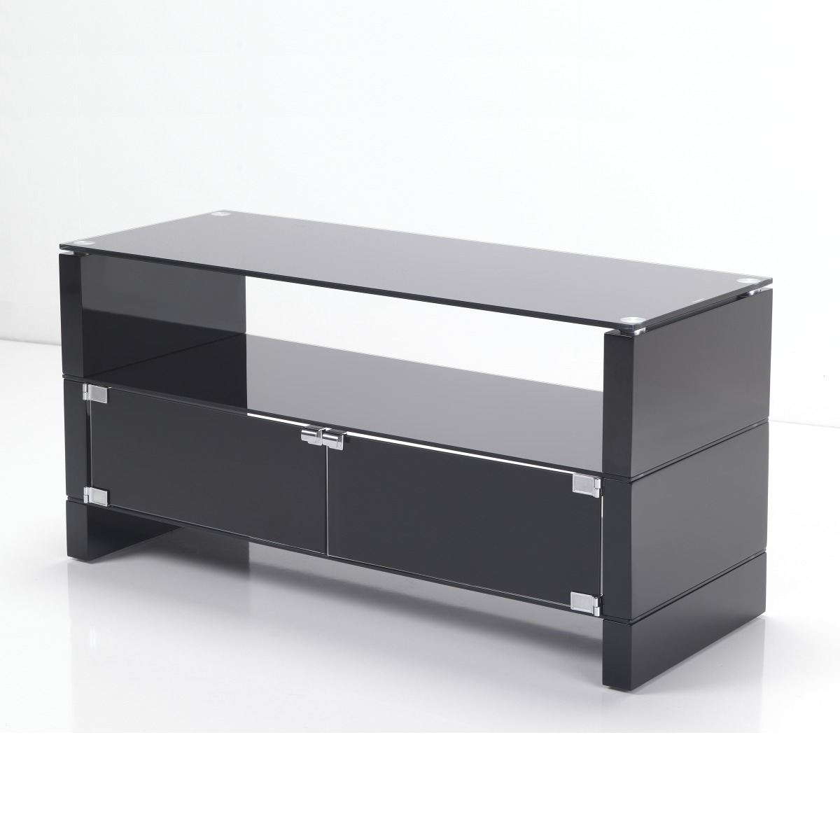 black glass flat screen tv stand cabinets 32 40 inch ebay. Black Bedroom Furniture Sets. Home Design Ideas