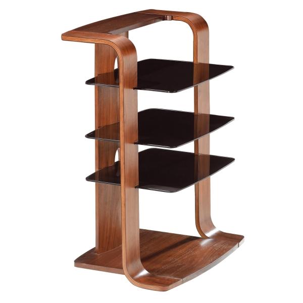 wooden black glass hi fi stand rack matches tv stand ebay. Black Bedroom Furniture Sets. Home Design Ideas