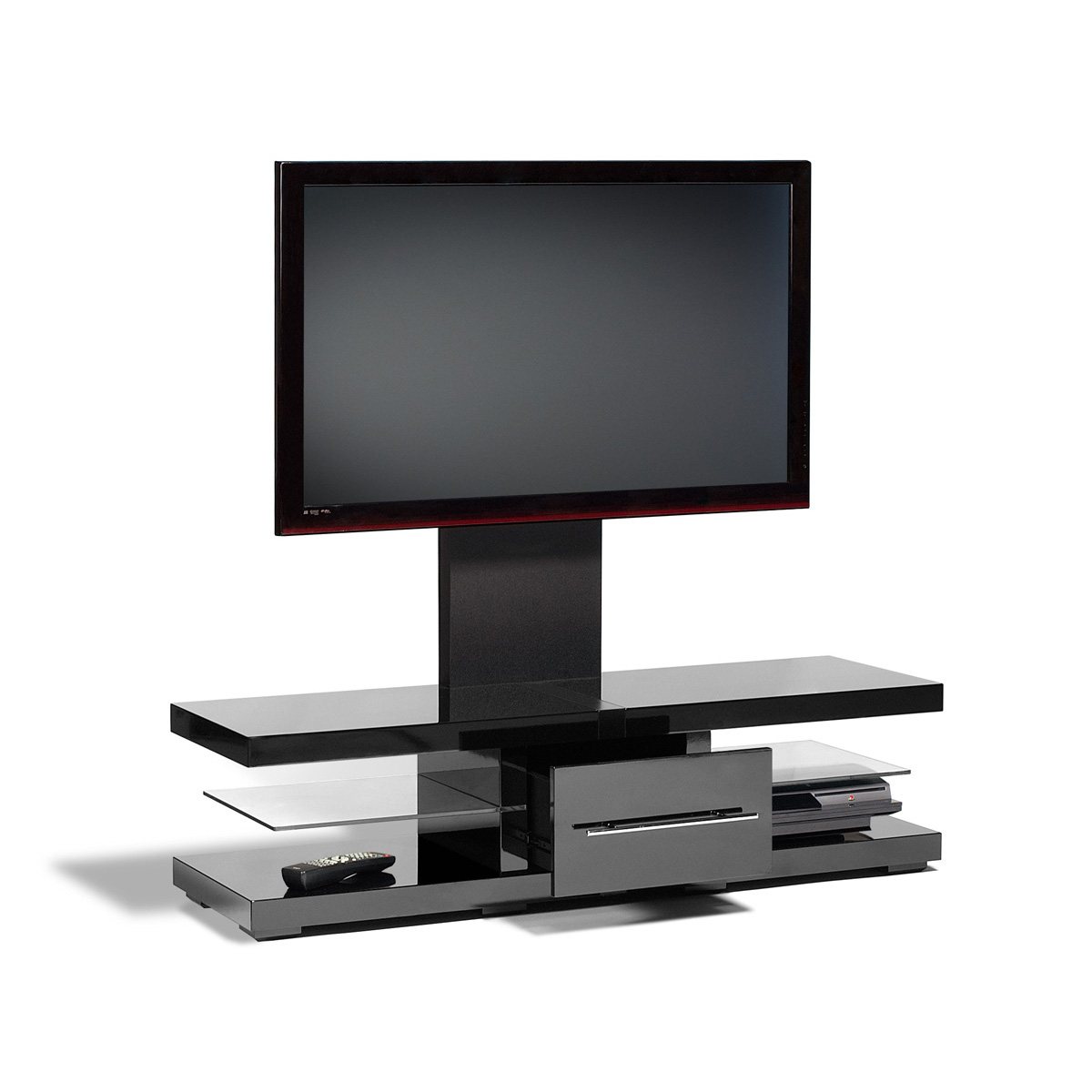 Black Metallic Flat Screen Tv Stand Mount 42 60 Inch