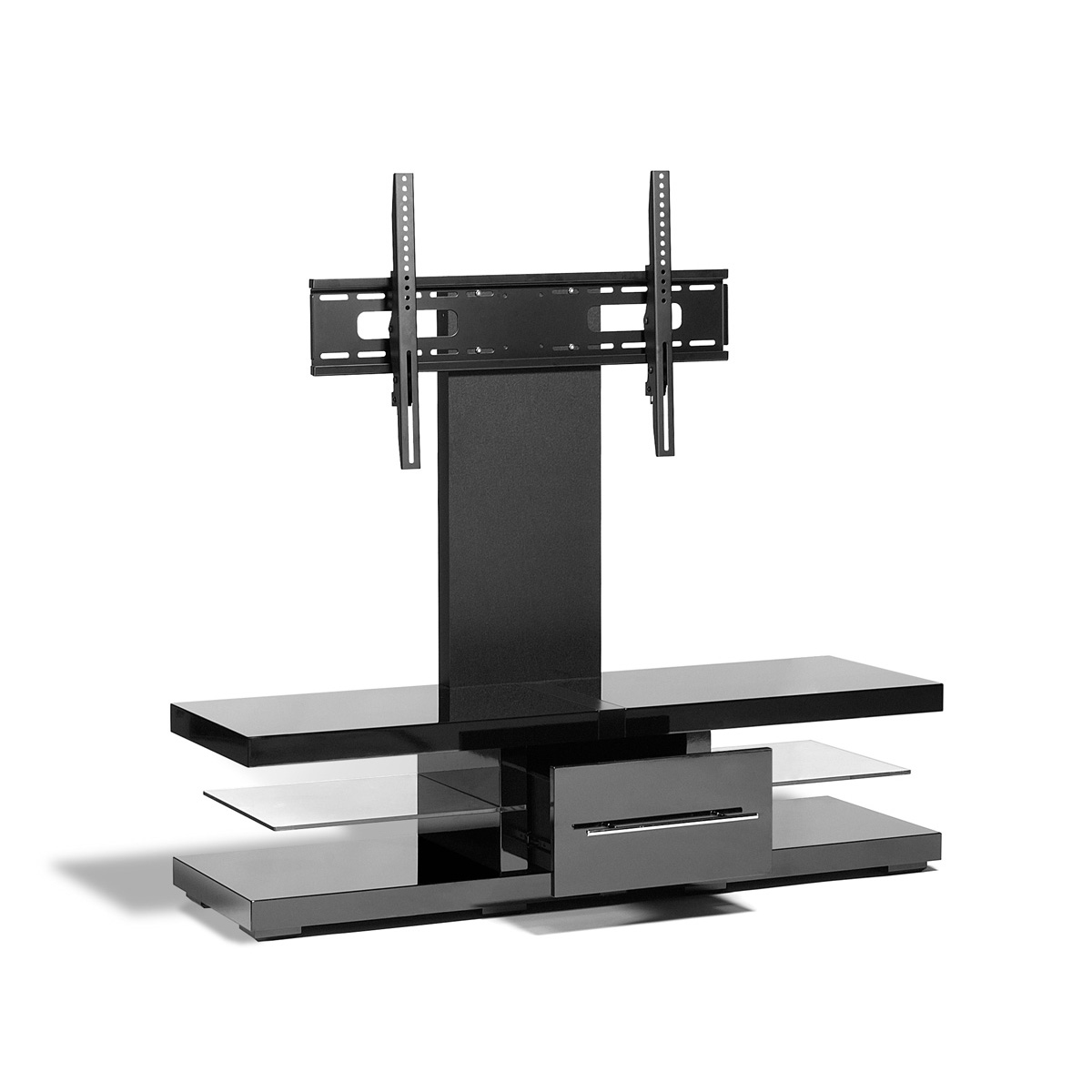 Black Metallic Flat Screen Tv Stand Amp Mount 42 60 Inch