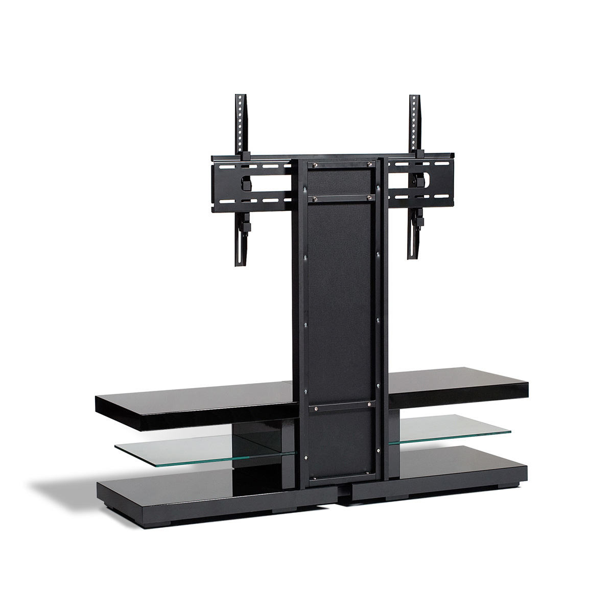 black metallic flat screen tv stand mount 42 60 inch screens ebay. Black Bedroom Furniture Sets. Home Design Ideas