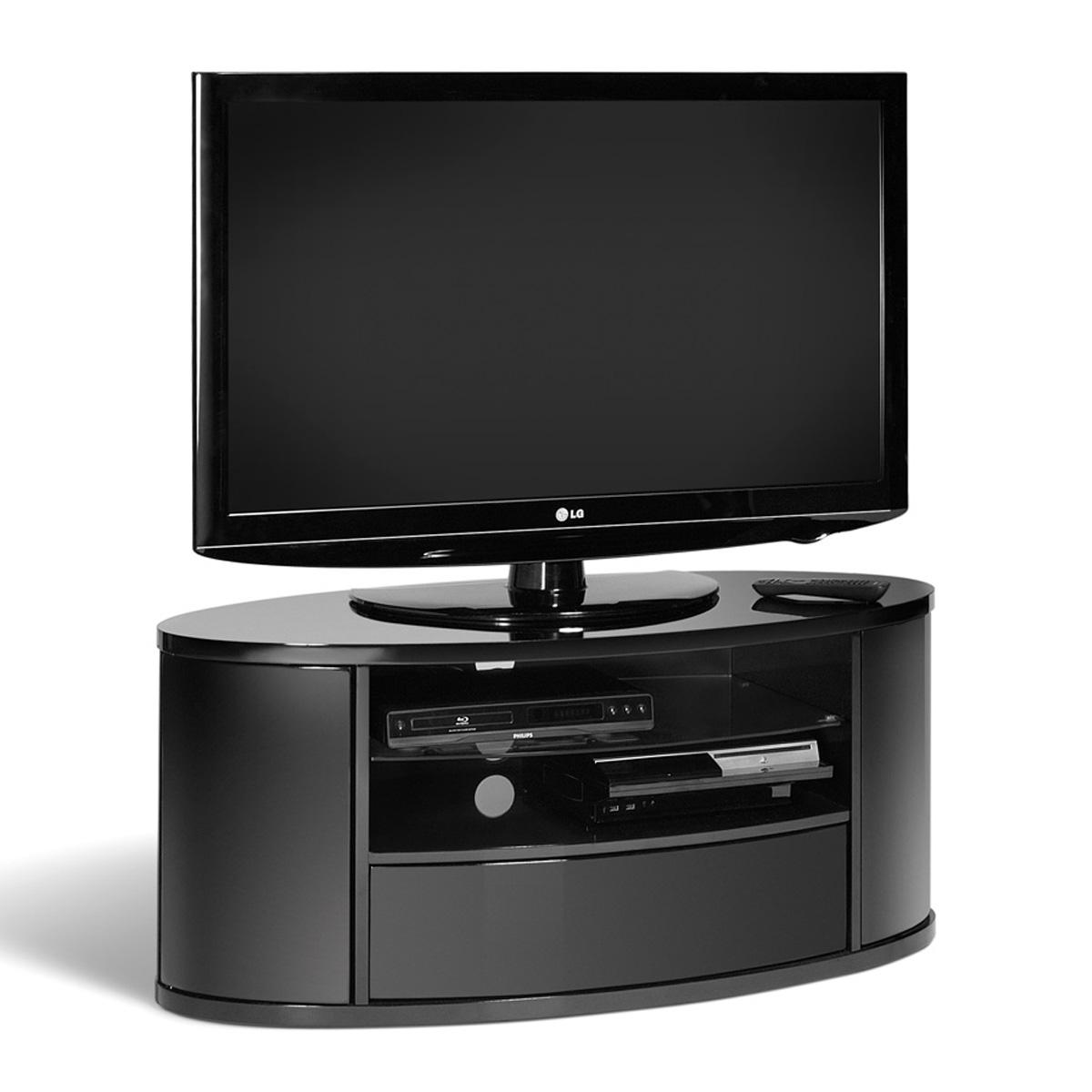 curved design black lcd plasma tv stand 40 50 inch screen. Black Bedroom Furniture Sets. Home Design Ideas