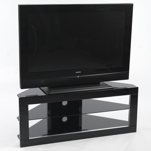 large flat screen black glass corner lcd plasma tv stand 40 inch ebay. Black Bedroom Furniture Sets. Home Design Ideas