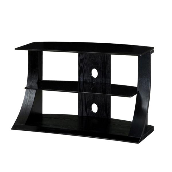 black ash wood two shelf lcd plasma tv stand 32 42 inch screen ebay. Black Bedroom Furniture Sets. Home Design Ideas