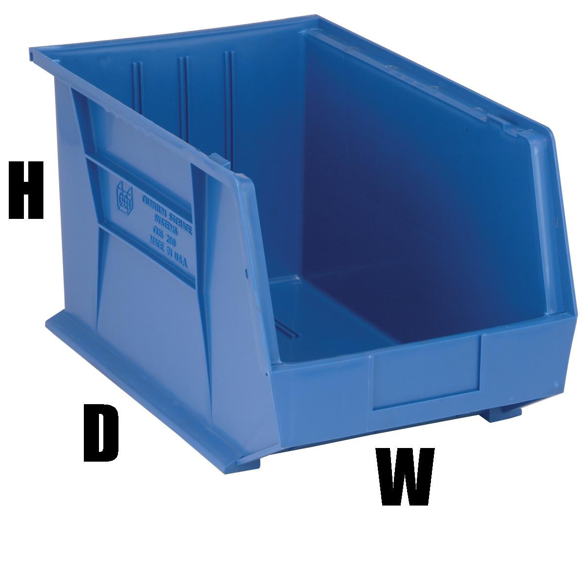 4 Blue Storage Plastic Bins 10 H X 11 W X 18 D Qus260 Ebay