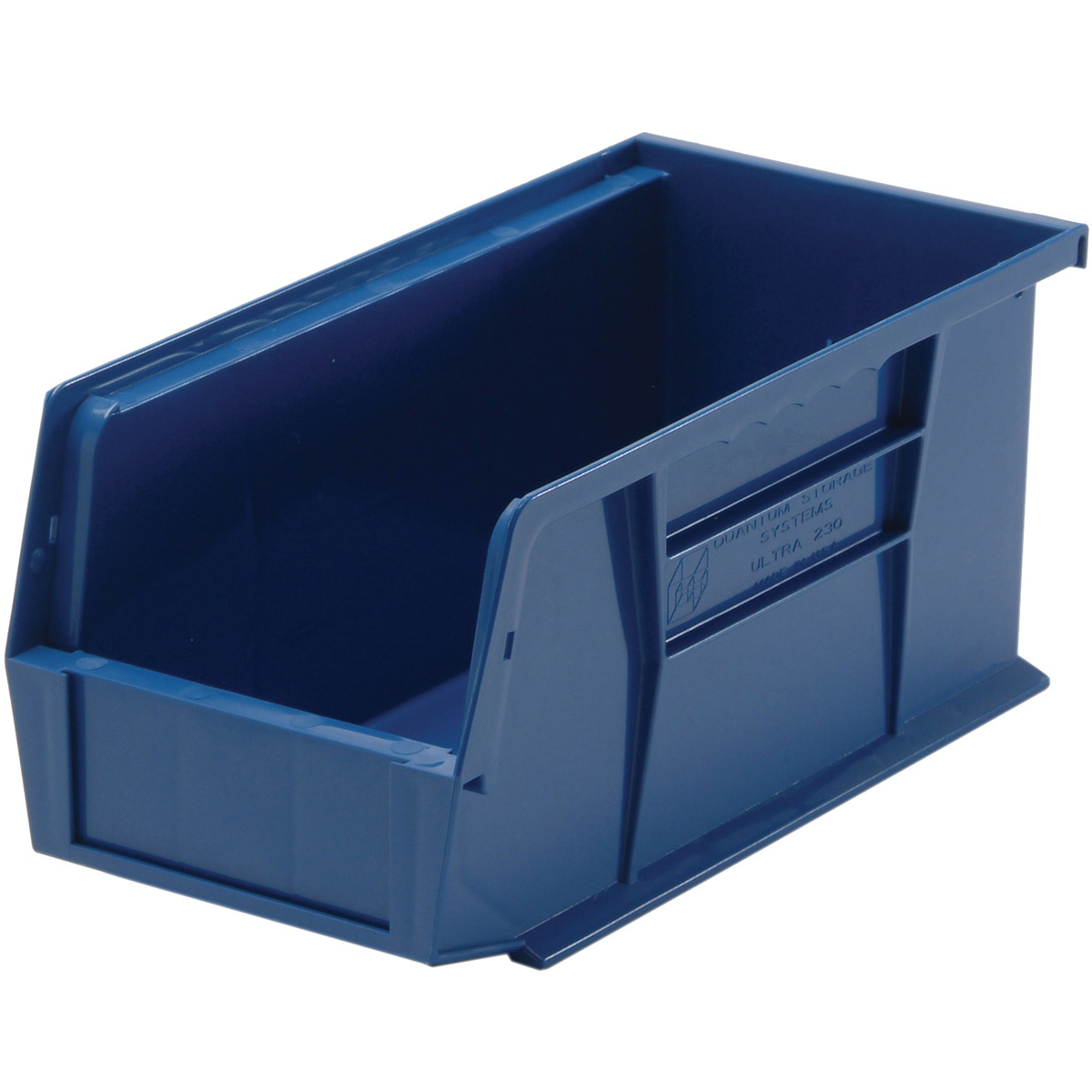 carton of 12 blue plastic storage parts bins qus230 ebay. Black Bedroom Furniture Sets. Home Design Ideas