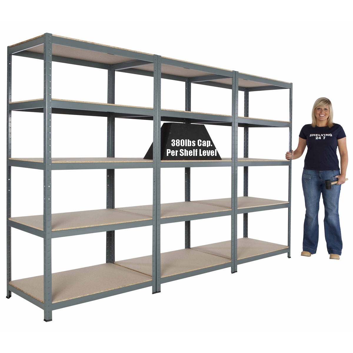 Metal Steel Garage Shelving Commercial Storage Unit 5
