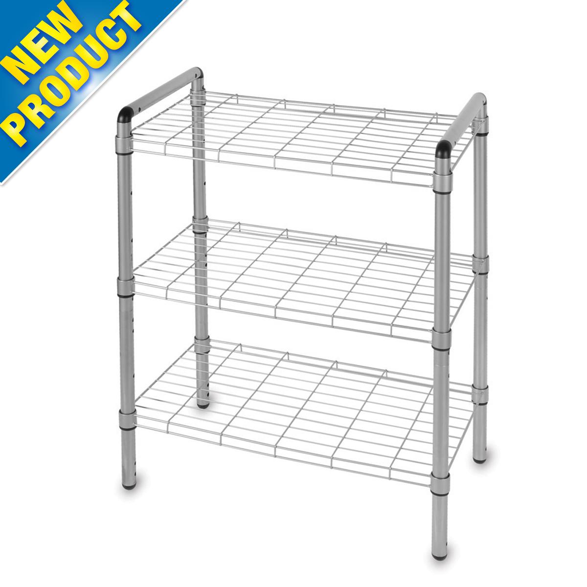 Silver Wire Home Storage Kitchen Closet Utility Rack Shelving 30
