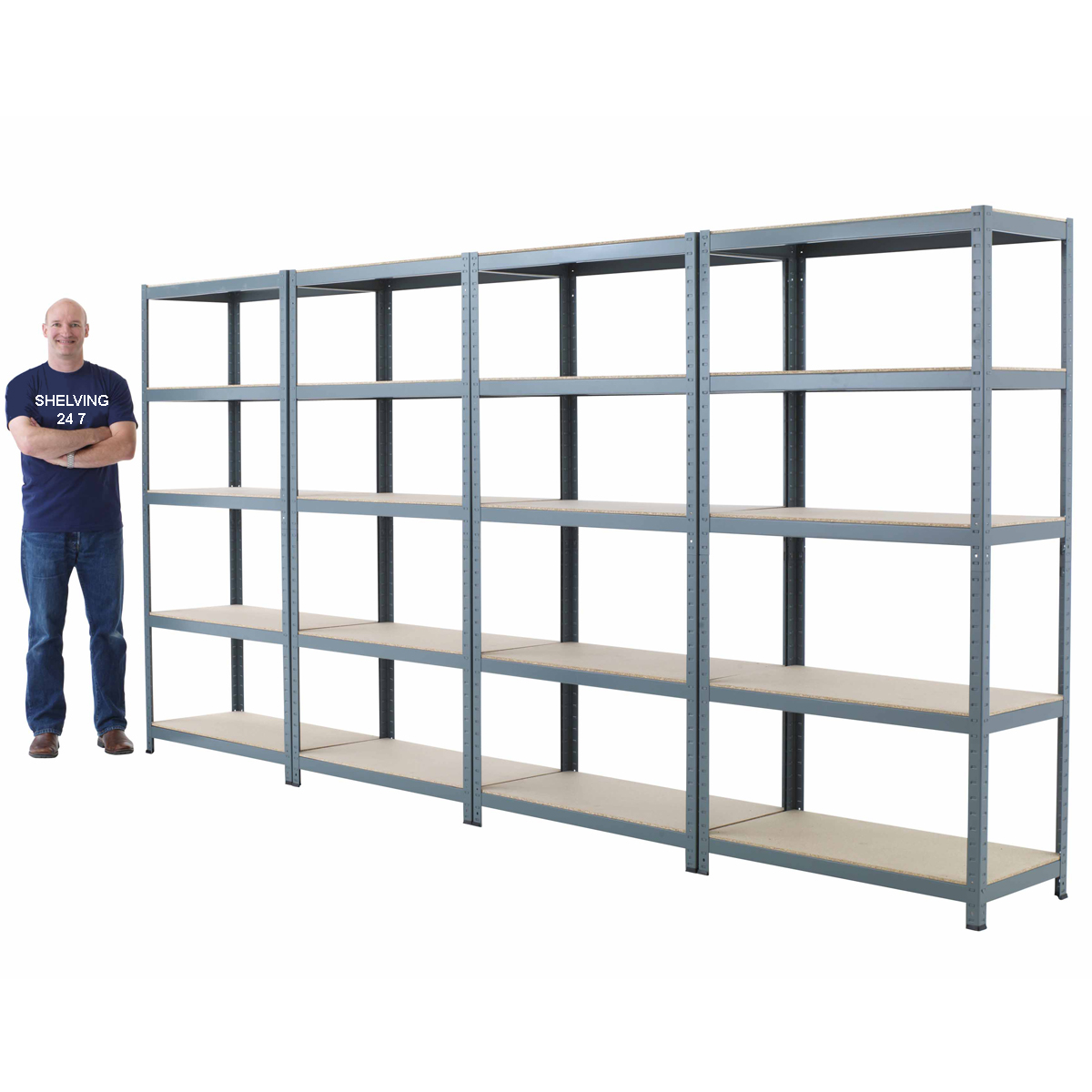 New 5 Shelf Metal Shelving 71 Hx36 Wx24 D Steel Garage