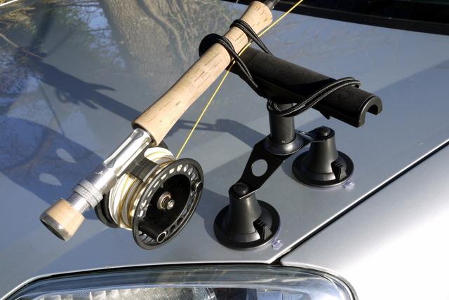 Roof rack fishing rod holder for car car interior design for Fishing rod holders for cars