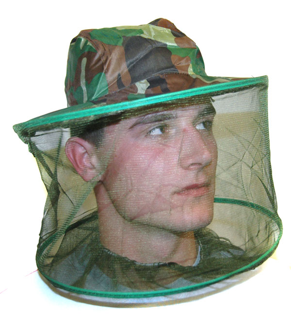 MIDGE MOSQUITO INSECT CAMO HAT HEAD NET  Enlarged Preview