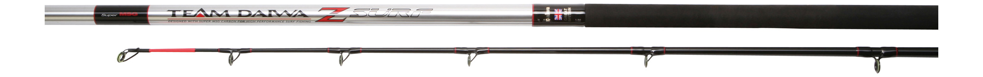 EX DISPLAY TEAM DAIWA Z 13'6 2PC 4-8OZ MATCH BEACH ROD TDZS136M RRP £399 Enlarged Preview
