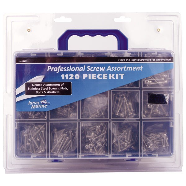 JARVIS WALKER MARINE 1120 PIECE STAINLESS STEEL SCREWS, NUTS, BOLTS KIT Enlarged Preview