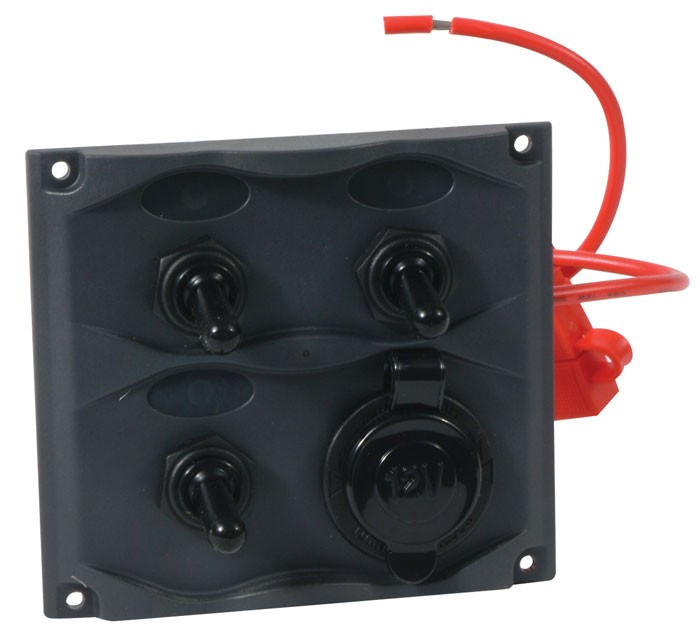 marine 3 gang switch panel water resistant 20a switch w. Black Bedroom Furniture Sets. Home Design Ideas
