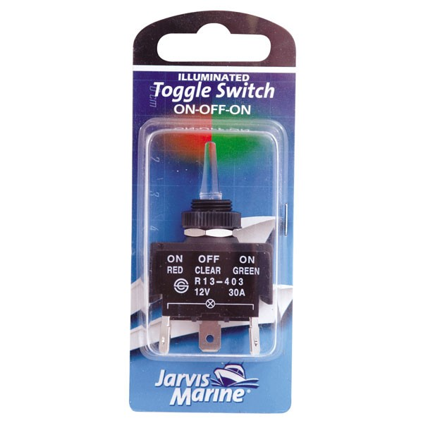 JARVIS WALKER MARINE TOGGLE SWITCH ILLUMINATED ON/OFF/ON Enlarged Preview