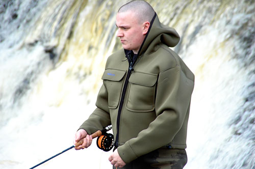NEOPRENE CHEST WADERS AND WADING JACKET ALL YOU NEED SHORE OR SALMON FISHING Enlarged Preview