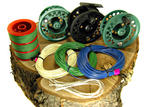 View Item BISON SE300 LARGE ARBOUR FLY REEL + 2 SPARE SPOOLS + 3 FLY LINES BACKING & LOOPS