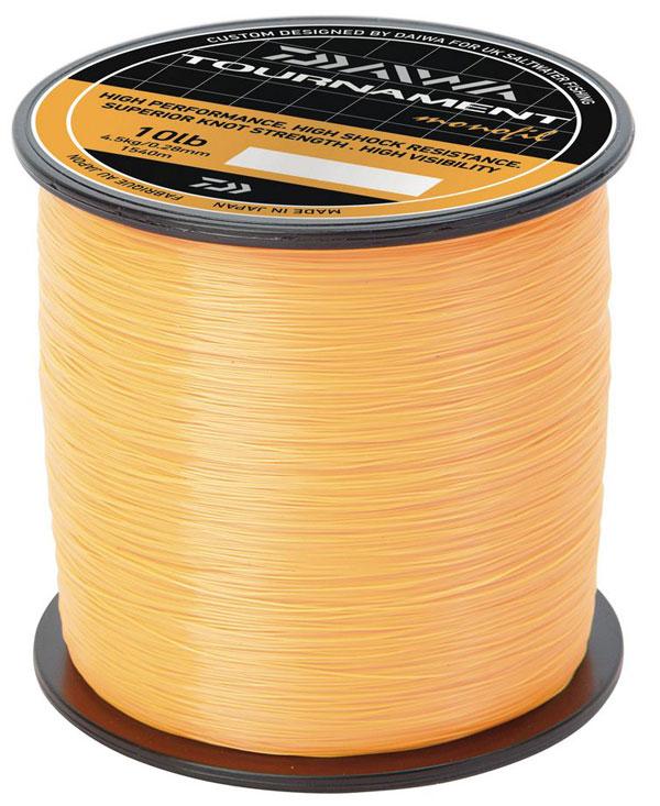 New daiwa tournament mono fishing line fluorescent orange for Orange fishing line
