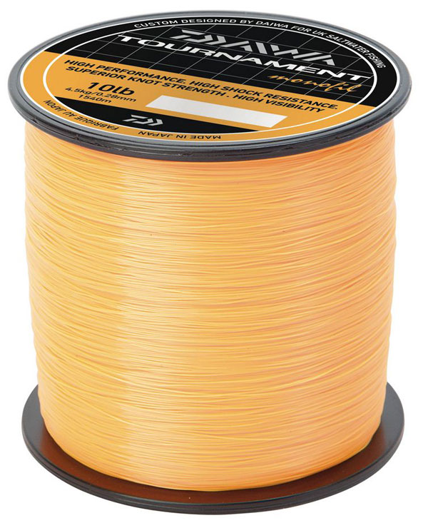 New daiwa tournament mono fishing line fluorescent orange for Fluorescent fishing line