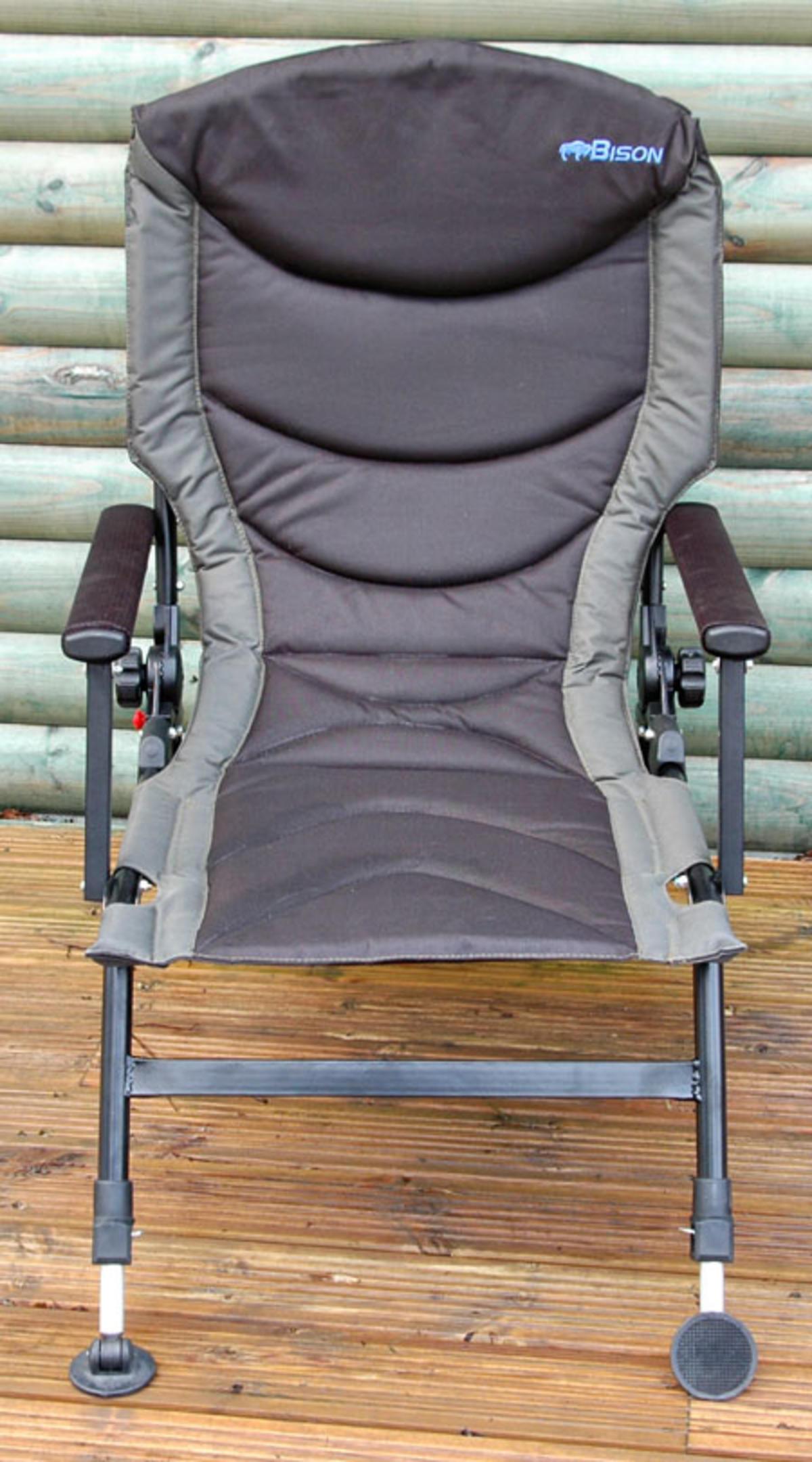 Bison Delux Carp Chair Adjustable Legs Back Recliner