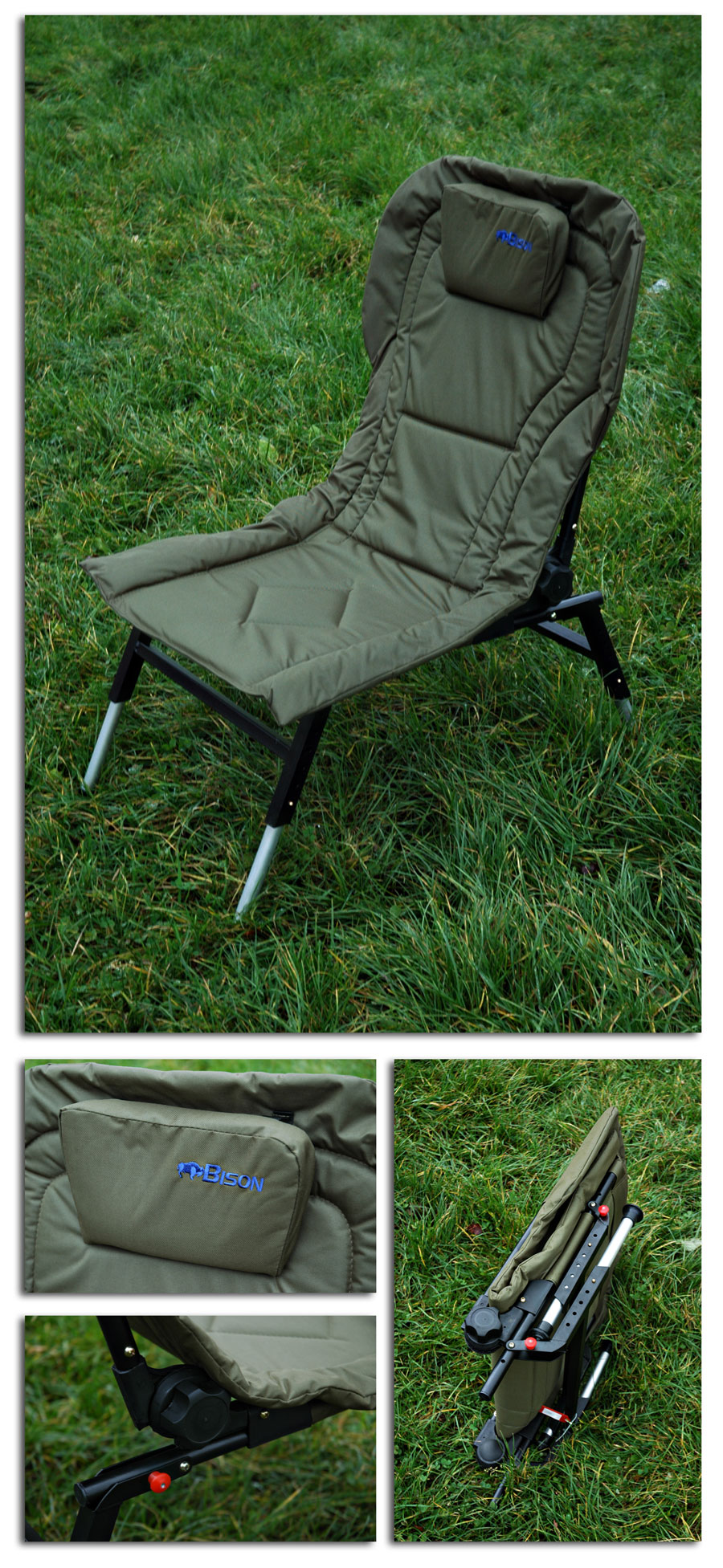 Fishing Chair Adjustable Legs And Back Recliner Fishing