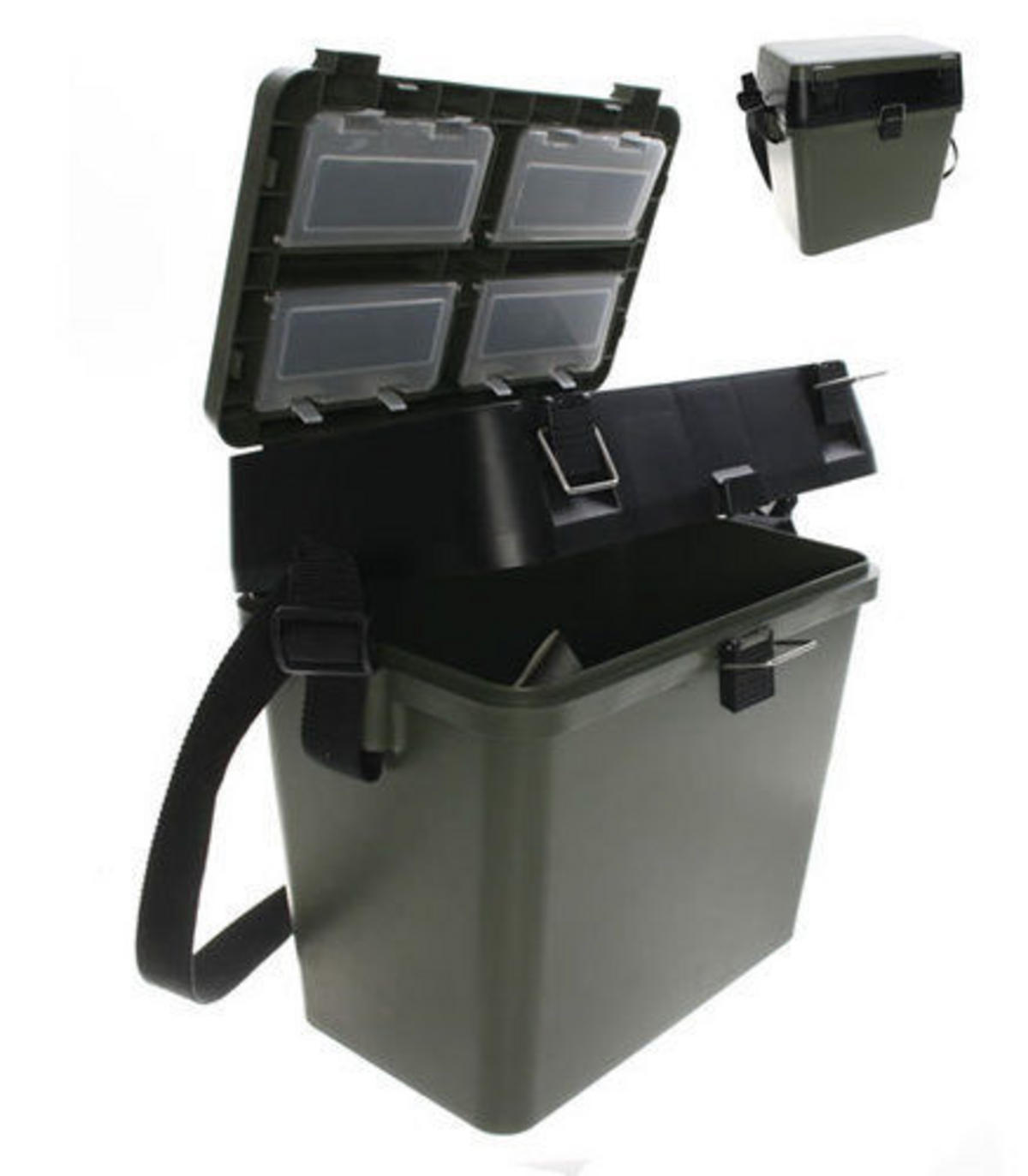 New roving stalker seat box with padded carry strap carp for Boat mailbox