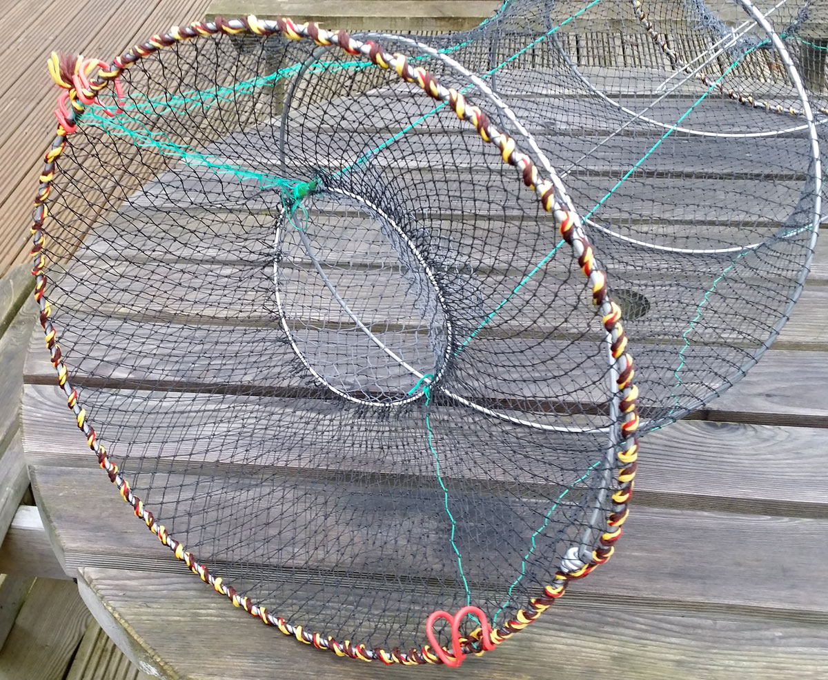 Crab trap net fishing for crab prawn shrimp crayfish for Fishing pole crab trap