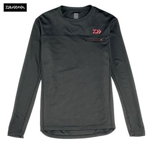 New Daiwa Japan Long Sleeve Base Layer T Shirt Black Sizes