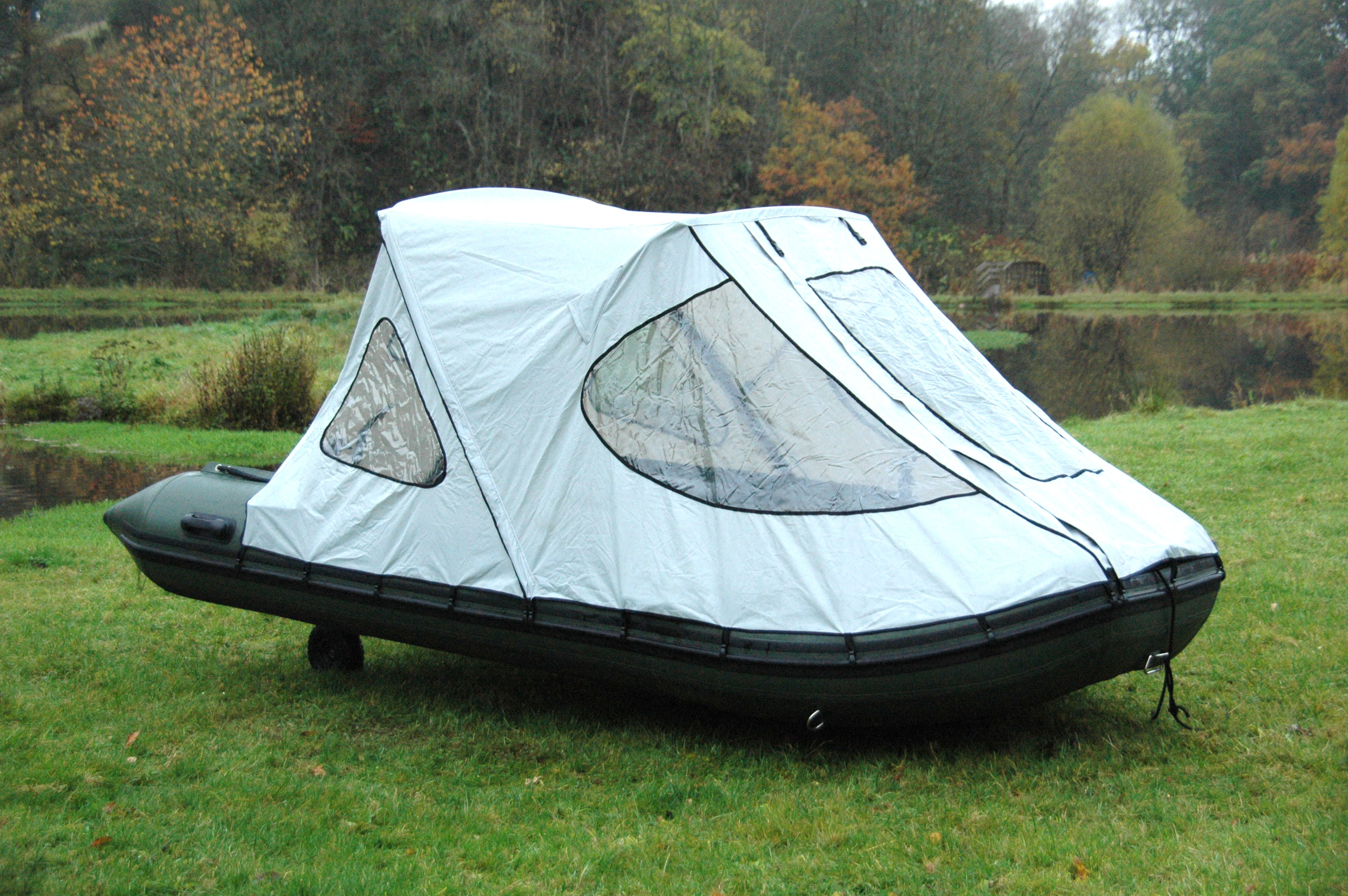 Bison marine bimini cockpit tent canopy for inflatable for Rubber boats for fishing
