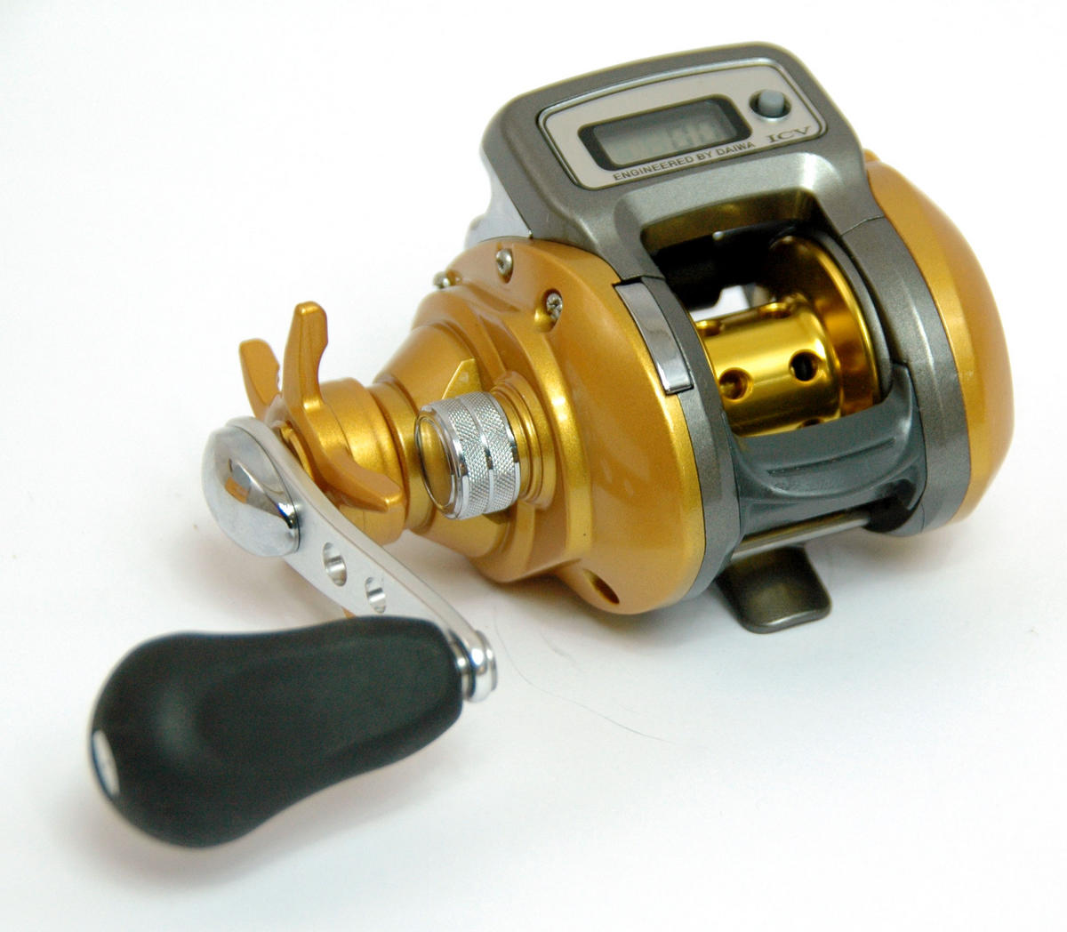 Clearance daiwa it 39 s icv 150l left hand wind multiplier for Line counter fishing reels