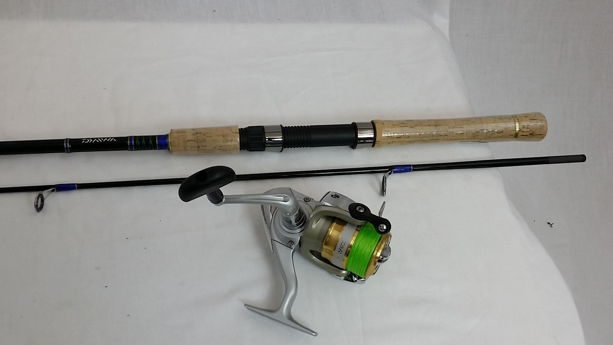 Daiwa sweepfire fishing rod reel j braid combo ebay for Ebay fishing rods